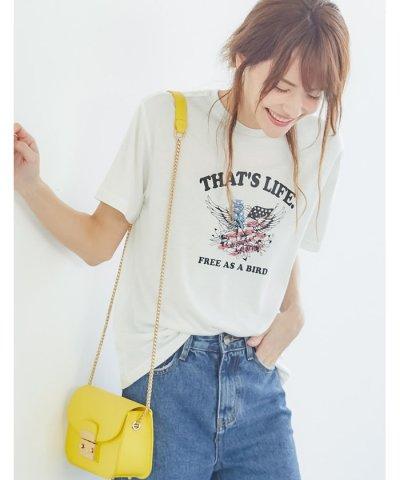 【Re:EDIT(リエディ)】ロックモチーフTシャツ