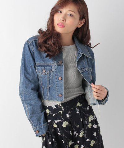 【AZUL by moussy(アズールバイマウジー)】ワイドスリーブショートGジャン