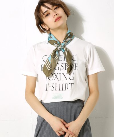 【AZUL by moussy(アズールバイマウジー)】BOXING LOGO T