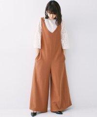<d fashion>きれいに見えて着心地らくちんVネックワイドオールインワン画像