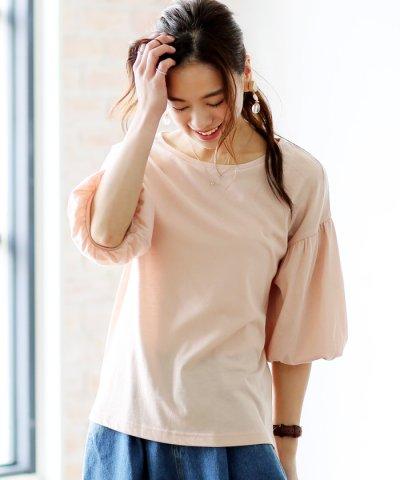 【and Me...(アンドミー)】Tシャツ レディース カットソー バルーン バルーン袖 バルーンスリーブ ゆるてろ トッ