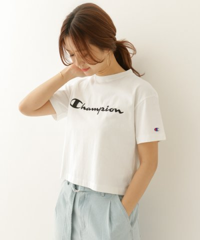 【URBAN RESEARCH DOORS(アーバンリサーチドアーズ)】Champion  別注 刺繍SHORTBOX Tシャツ