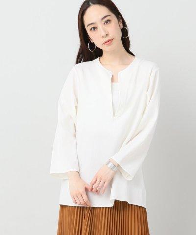 【IENA(イエナ)】AILE 100/2強撚ダブルクロス カフタンシャツ