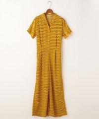 <d fashion>開衿半袖オールインワン画像
