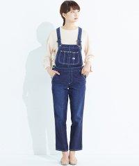 <d fashion>Lee胸ポケットのテーパードオーバーオール画像