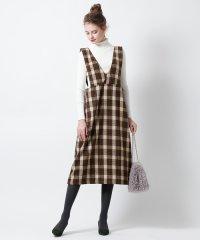 <dfashion> チェックジャンパースカート画像
