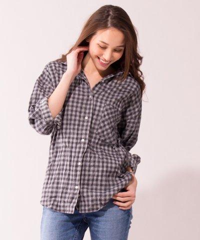 Web限定【YANUK】チェックシャツ