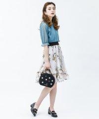 <d fashion>薔薇柄プリーツフリルSK画像