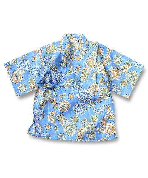 517988f4d38b9 セール 花火柄甚平|ブランシェス(branshes)の浴衣(子供服:90~130cm ...