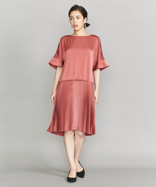 3a245f0eaa7e1 セール BY DRESS サテンプリーツバックリボンドレス о ビューティ ...