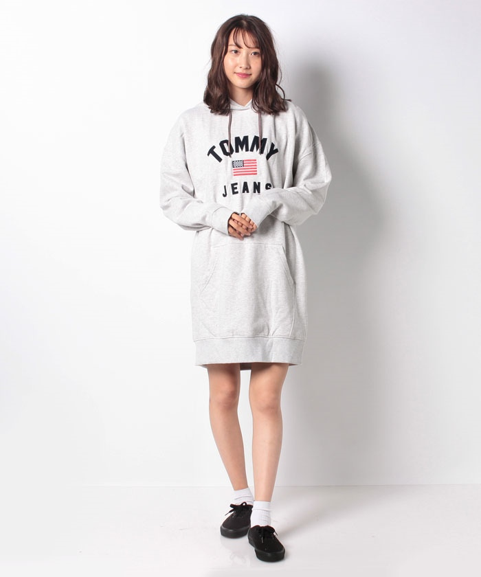 Tommy Hilfiger ウーマン ヒルフィガー 取り寄せ商品 ロゴ ワンピース フーディ トミー パーカー Logo Hoodie Dress レディース