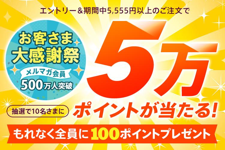 【dポイント大量GET】【メルマガ会員500万人突破記念】抽選で10名さまに5万ポイントプレゼント!