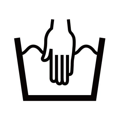 桶のマークに手が入ったら「手洗い可」