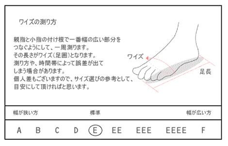 ワイズの測り方