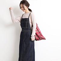 《追加予約》LE DENIM ロングジャンパースカート◆