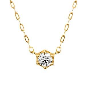 0.1ctダイヤモンド イエローゴールドネックレス