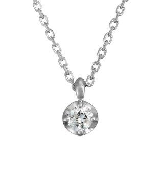 0.07ctダイヤモンド ホワイトゴールドネックレス