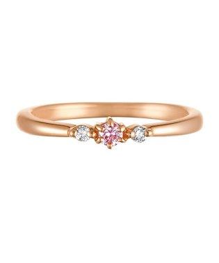 K10ピンクゴールドダイヤ ピンクサファイアリング