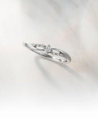 K10ホワイトゴールドダイヤモンドリング