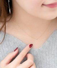 【K10】プチダイヤモンドネックレス