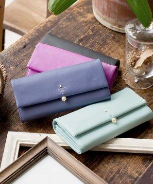 LANVIN en Bleu シャペル かぶせ型長財布