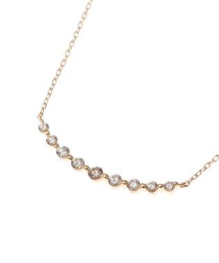 K18ダイヤモンド グラデーション9石 ネックレス