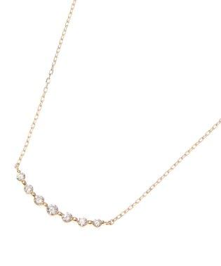 K18ダイヤモンド グラデーション7石 ネックレス