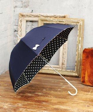雨晴兼用 長傘 (UVカット&軽量) インドット