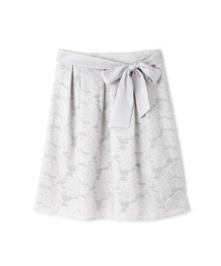カットフラワージャカードスカート
