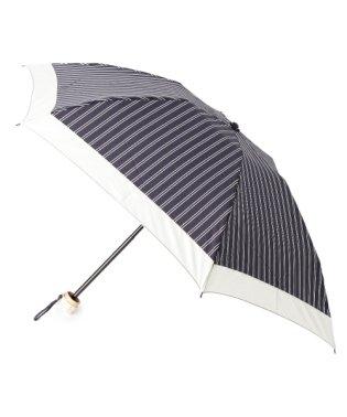 ダブルストライプ折りたたみ傘(晴雨兼用)