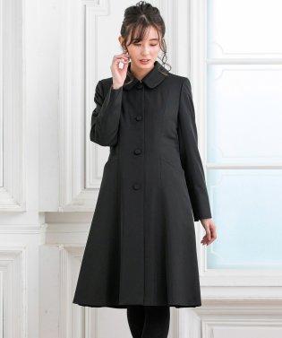 ライナー付きブラックステンカラーコート