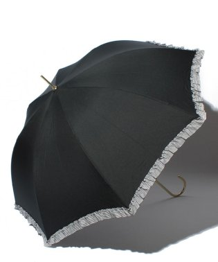 雨晴兼用 長傘 (UVカット&軽量) ジャンプ傘 ボーダーフリル