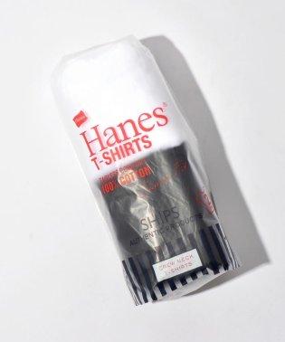 Hanes×SHIPS:コットンTEE白黒(2枚組)◇