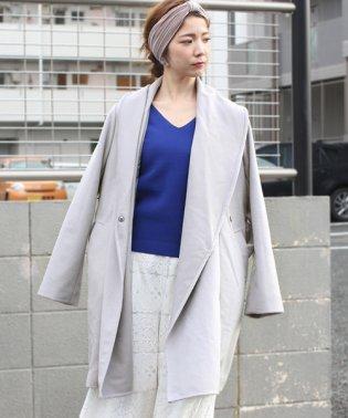 ◆ざっくり羽織ってサマになる◆ダブルフェイスガウンコート