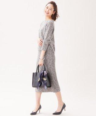 【セットアップ対応】マルチカラースラブ ニットスカート