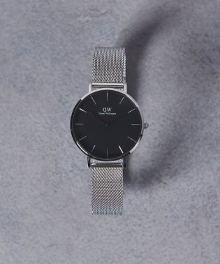 <Daniel Wellington(ダニエル ウェリントン)>PETITE BLACK 腕時計32mm†