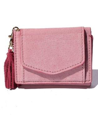 【Legato Largo】ピッグスウェード 三つ折りミニ財布
