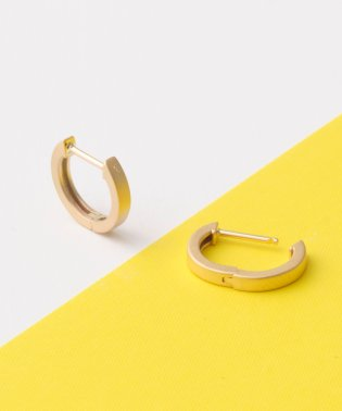 matte gold straight hoopピアス