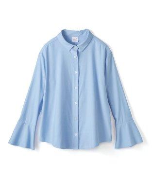 これ1枚で女っぽさを手に入れる なめらか素材の袖フレアーシャツ