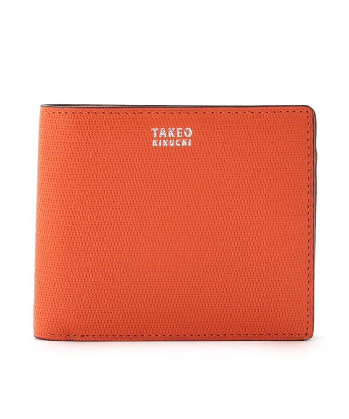 (TAKEO KIKUCHI/タケオキクチ)【至極の逸品】ミニメッシュ2つ折り財布 [ メンズ 財布 サイフ 定番 二つ折り ギフト プレゼント ]/メンズ オレンジ(567)