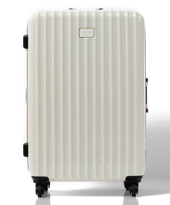 (BENETTON (women)/ベネトン レディース)【L】静走ラインキャリーケース・スーツケース容量約80L 静音/レディース ホワイト
