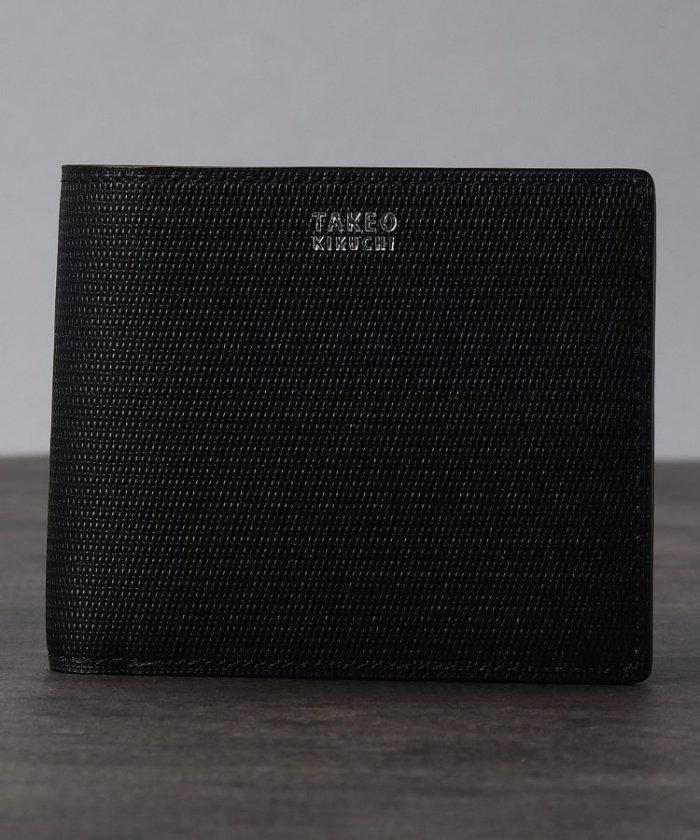 (TAKEO KIKUCHI/タケオキクチ)【至極の逸品】ミニメッシュ2つ折り財布 [ メンズ 財布 サイフ 定番 二つ折り ギフト プレゼント ]/メンズ ブラック(519)