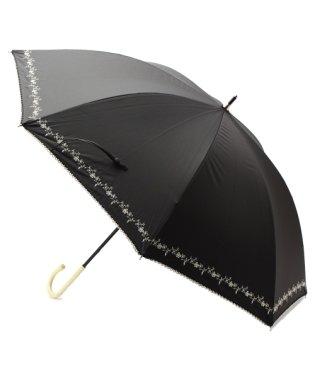 遮光プチフラワー刺繍パラソル(長傘)