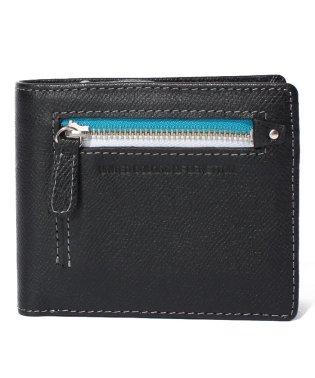 配色ファスナー2札入れ財布