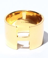 WIDE PLATE RING GOLD