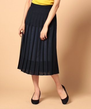 wool voilelayer pleats skirt