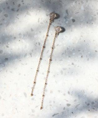 glitter chain ピアスキャッチ(6cm)