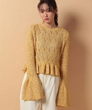cotton mohair lacepullover