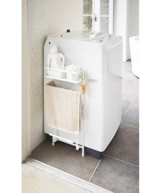 洗濯機横マグネット収納ラック タワー ホワイト