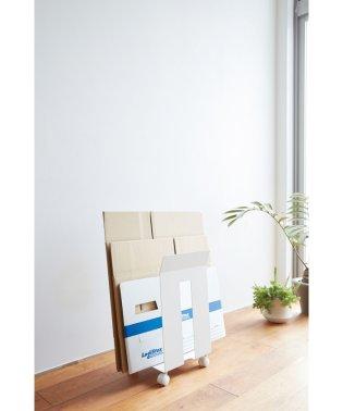 ダンボール&紙袋ストッカー フレーム ホワイト